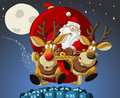 Santa-Claus on Christmas time Royalty Free Stock Photo