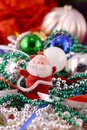 Santa claus with christmas toys new year decoration Stock Photography