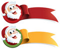 Santa Claus Christmas Web Ribbon Royalty Free Stock Photo