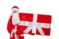 Santa claus concept holding gift card Stock Photos