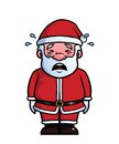 Santa claus crying being sad and Royalty Free Stock Photos