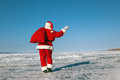 Santa claus d adieu Photo stock