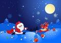 Santa Claus with deer Stock Image