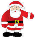 Santa claus displaying perfect for your holiday print Royalty Free Stock Images