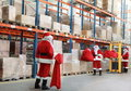 Santa claus doing wholesale shopping Royalty Free Stock Photo
