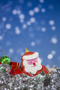Santa Claus doll with abstract background