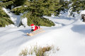 Santa Claus is driving down the mountain Royalty Free Stock Photo