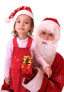 Santa Claus and dwarf Royalty Free Stock Image