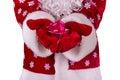 Santa claus et surprise Photos stock