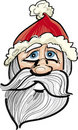 Santa claus face Stock Photo