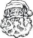 Santa Claus Face and Head Cartoon Vector Illustration Royalty Free Stock Photo