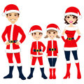 Santa Claus Family Stock Photography