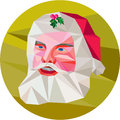 Santa Claus Father Christmas Low Polygon Stock Photos