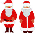 Santa claus and father frost catholic orthodox together Royalty Free Stock Photography
