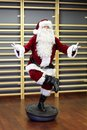 Santa claus fitness training on stablity hemisphere in studio Stock Photo