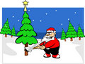 Santa claus in forest Royalty Free Stock Photography
