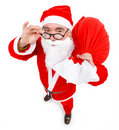 Santa claus with full bag Stock Images