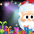 Santa Claus and gift boxes Stock Photo