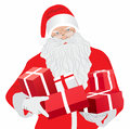 Santa claus with gifts illustration Royalty Free Stock Photography