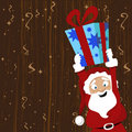 Santa claus giving gift Royalty Free Stock Photos