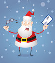 Santa Claus with glasses and letter Stock Photo
