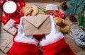 Santa Claus got a Christmas letter Royalty Free Stock Photo