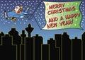Santa claus is greeting