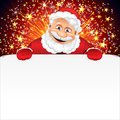 Santa claus greeting card Royalty-vrije Stock Foto's