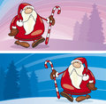 Santa claus greeting cards Royalty Free Stock Image