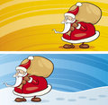 Santa claus greeting cards Stock Images