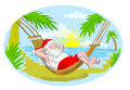 Santa claus hammock beach Stock Photo