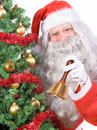 Santa Claus with handbell Stock Images