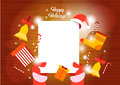 Santa Claus Hands Empry Paper Sheet Merry Christmas Happy New Year Wish List Royalty Free Stock Photo