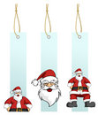 Santa Claus in hanging lables Stock Photo