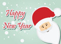 Santa claus happy new year Arkivbild