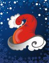 Santa Claus hat background Stock Image