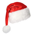 Santa claus hat isolated on white background Royalty Free Stock Images
