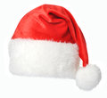 Santa claus hat isolated on white background Stock Images