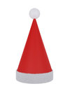 Santa claus hat isolated on white d illustration Stock Photos