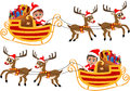 Santa claus in his christmas sled or sleigh illustration featuring bob and meg celebrating clothing costume driving pulled Stock Photos