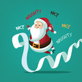Santa claus with his naughty and nice list eps vector illustration Royalty Free Stock Image