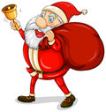 Santa claus with his sack full of gifts illustration on a white background Royalty Free Stock Photo