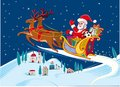 Santa Claus with his sleigh Royalty Free Stock Photo