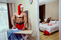 Santa Claus home Royalty Free Stock Photo