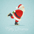 Santa Claus ice-skate Royalty Free Stock Photo