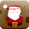 Santa claus icon square vector with funny Royalty Free Stock Photo