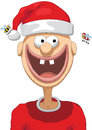 Santa claus illustration of character with christmas hat Stock Photo