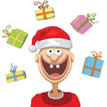 Santa claus illustration of character with christmas hat Stock Photography