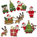 Santa claus illustration of stock of with reindeer Stock Images
