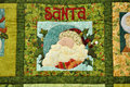 Santa Claus image on cloth decoration Stock Images